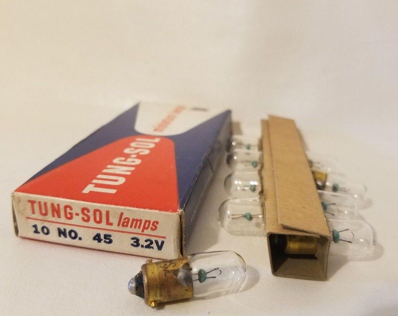 Box of 10 Tung-Sol PR4 TS T-S TSPR4 Miniature Flashlight Lamps Light Bulbs 2.3V