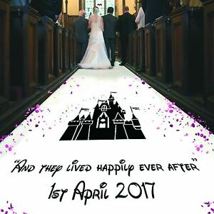 Personalised WEDDING AISLE RUNNER. Church/Venue Carpet Decoration. 20ft - 30ft
