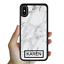 miniatura 6 - For iPhone 12 Pro Max 11 XS Case Marble IV Personalised Text Initial Custom Name