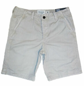 Abercrombie-amp-Fitch-NY-The-A-amp-F-Classic-Fit-At-The-Knee-Cotton-Shorts-Khaki-32