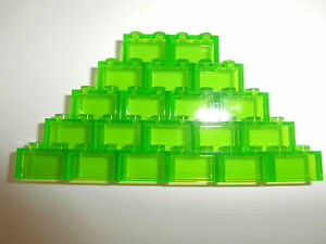 LEGO-CLASSIC-20-transparente-Bausteine-3065-hellgruen-1x2-Noppen-NEUWARE