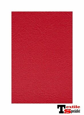 """CLASSIC RED MARINE OUTDOOR AUTO FABRIC BOAT UPHOLSTERY 54""""W VINYL BY THE YARD"""