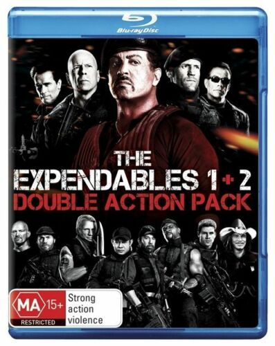1 of 1 - The Expendables / Expendables 2 (Blu-ray, 2012, 2-Disc Set) unSealed (D118)