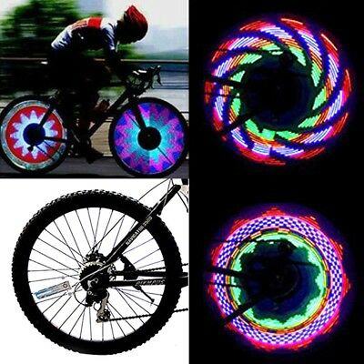 32 Pattern LED Colorful Bike Wheel Tire Spoke Signal Light For Bicycle Safety