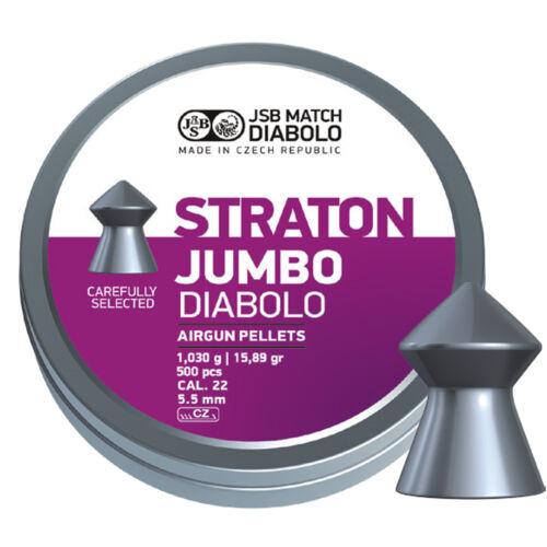 JSB Jumbo Straton .22 5.50mm Air Rifle Airgun Pointed Pellets 500 Pack Ammo 22