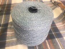 Lambs wool And Linen Teal Mix 1150 Gram Cone.Hand/machine Knit. Craft/crochet.