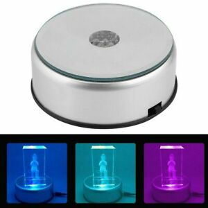 7LED-Round-Unique-Rotating-Crystal-Colorful-Light-Base-Electric-Display-Stand