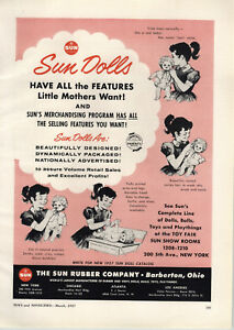 1957-PAPER-AD-Sun-Rubber-Toy-Co-Barberton-Ohio-Sun-Dolls-Cries-Tears-Drinks