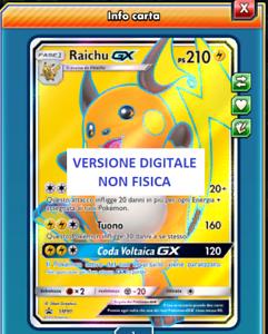 POKEMON TCG Online Raichu GX PROMO SM90 ITA VERSIONE DIGITALE
