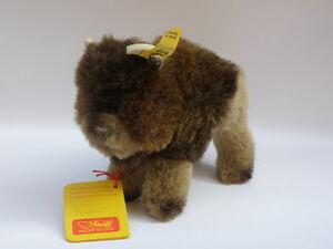 Steiff-Original-Vintage-all-labels-Bully-1458-12-Bison-bison