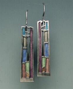 925-Silver-Multi-Color-Gemstone-Woman-Ear-Hook-Drop-Dangle-Party-Gift-Earrings