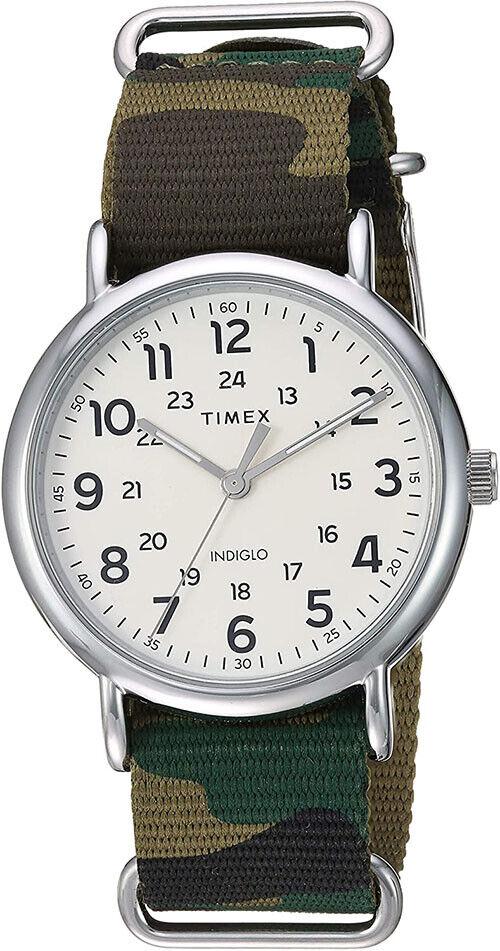 Timex Men's Weekender Quartz Silver Tone Brass/Camouflage Nylon Watch TW2T30800 | Ebay