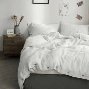 Simple-amp-Opulence-100-Washed-Linen-Coconut-Wood-Deduction-Solid-Duvet-Cover-set