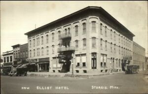 Image Is Loading Sturgis Mi New Elliot Hotel C1925 Real Photo