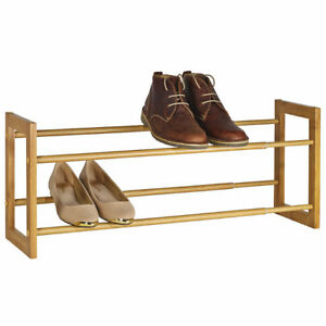 Lakeland-Extending-amp-Stackable-Wood-Effect-Shoe-Rack-Holds-up-to-10-Pairs