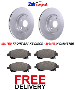 FOR TOYOTA COROLLA VERSO 2.0 2.2 D-4D 2004-2009 FRONT BRAKE DISCS /& PADS SET