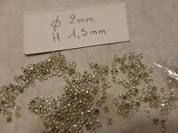 lot 500 perle ancienne rocaille argent argenté en verre broderie costume bijoux