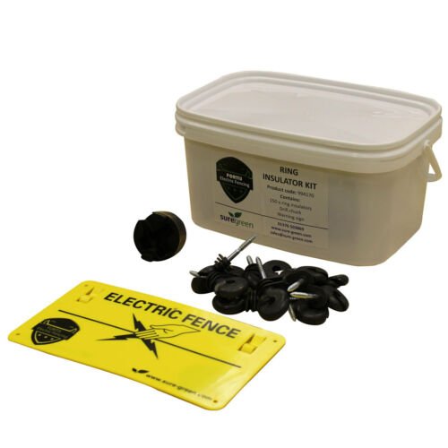 Electric Fencing Ring Insulator Starter Kit for Polywire and Polyrope