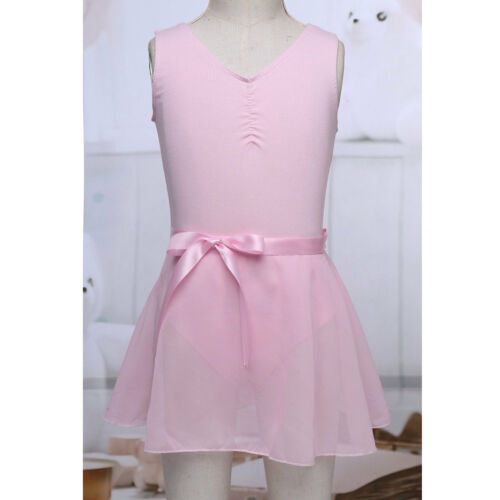 Kids Toddler Girls Ballet Leotard Dance Dress Cotton Gymnastic Dancewear Costume
