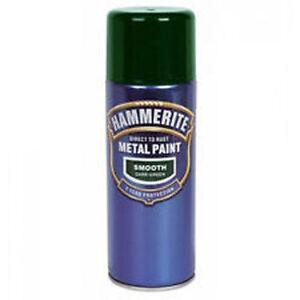 Hammerite 400 Ml Dark Green Aerosol Spray Smooth Metal ...