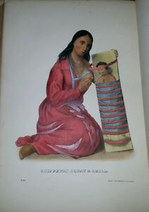 Plate-No-95-CHIPPEWAY-SQUAW-amp-CHILD-1872-Octavo-History-of-Indian-Tribes-of-N-Am