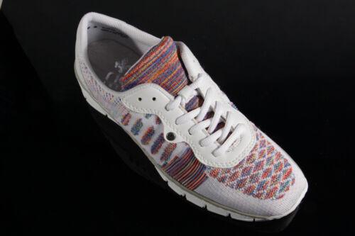 Rieker Damen Schnürschuhe Sneakers Sportschuhe Halbschuhe weiß 537P4 NEU!