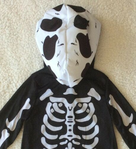 Boys Skeleton Dinosaur 2 Piece Fancy Dress Costume//All In One Outfit ~ 3-4 Years