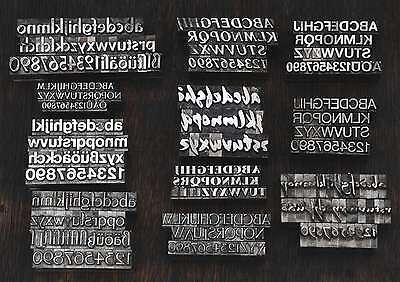 Bleischrift - 1 Set zur Auswahl - Bleisatz Letter Lettern Buchstaben Bleilettern