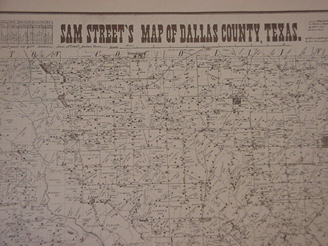 Old Dallas Map.Old Dallas Sam Street S Replica 1901 Map Gun Trade Day Antique Shows