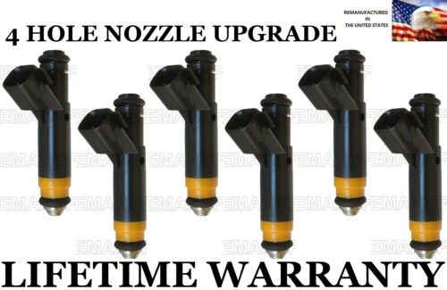 4 Hole Nozzle Upgraded Genuine Siemens 6X Fuel Injectors for Ford F-150 4.2L V6