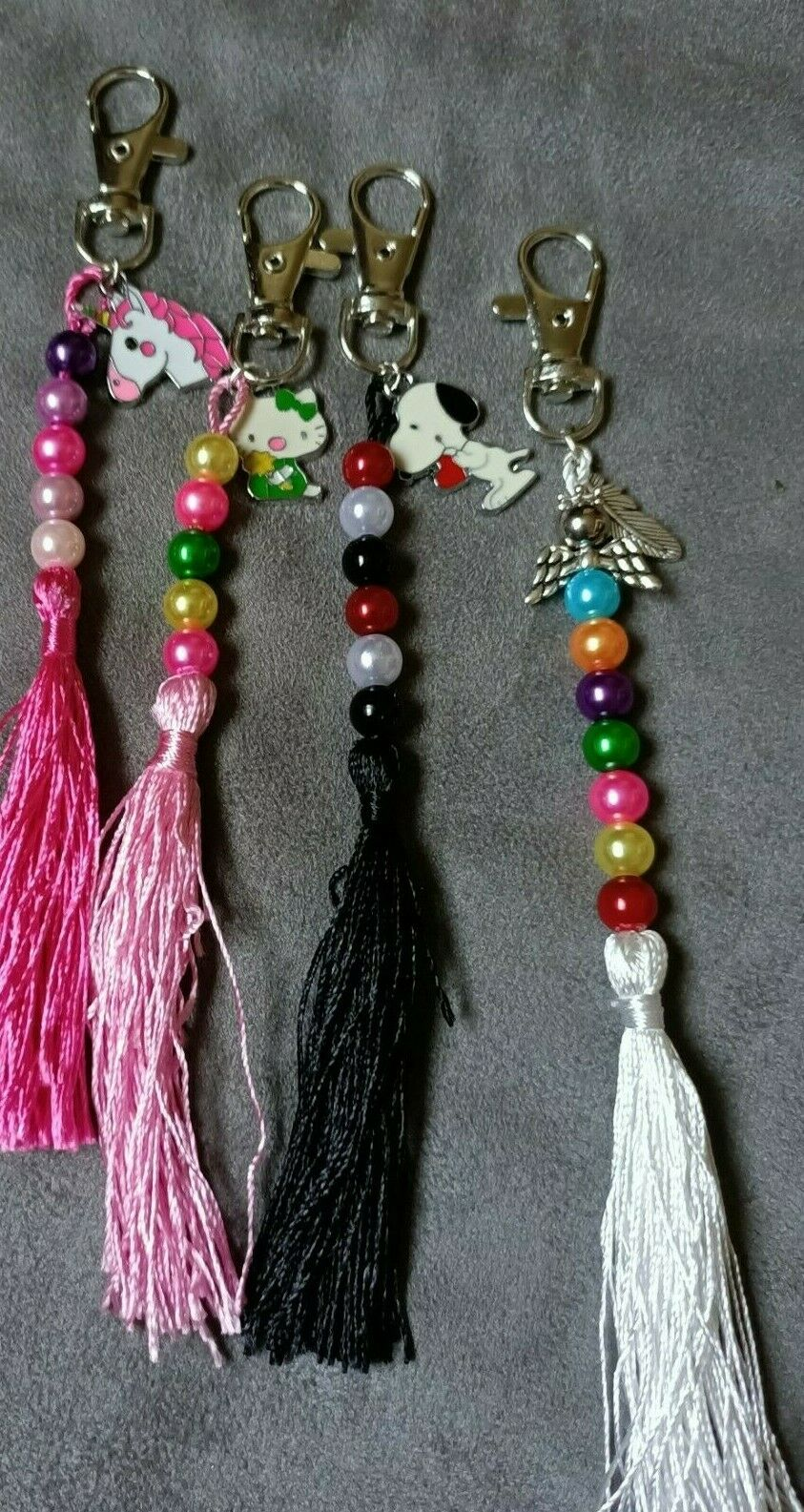 1 x Perles/TASSEL/breloque sac/key charms. Main créé Cadeau. Vendeur Britannique