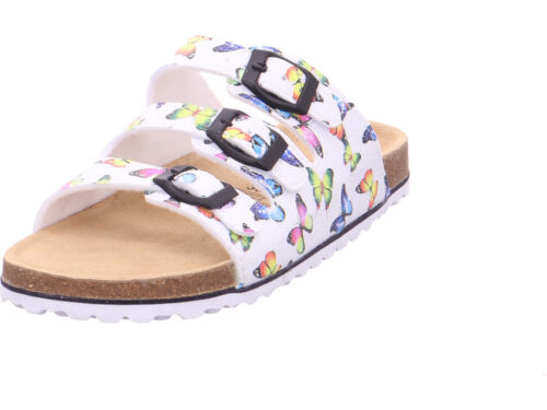 Softwaves Fille tieffussbett Mules Mules Sandales Chaussons Blanc
