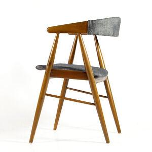Retro-Vintage-Danish-Modern-Desk-Office-Side-Chair-60s-Mid-Century-Modern-Teak