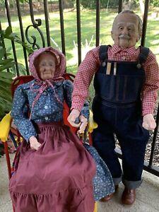 GRANDMA & GRANDPA Dolls, William Wallace Doll , Old People