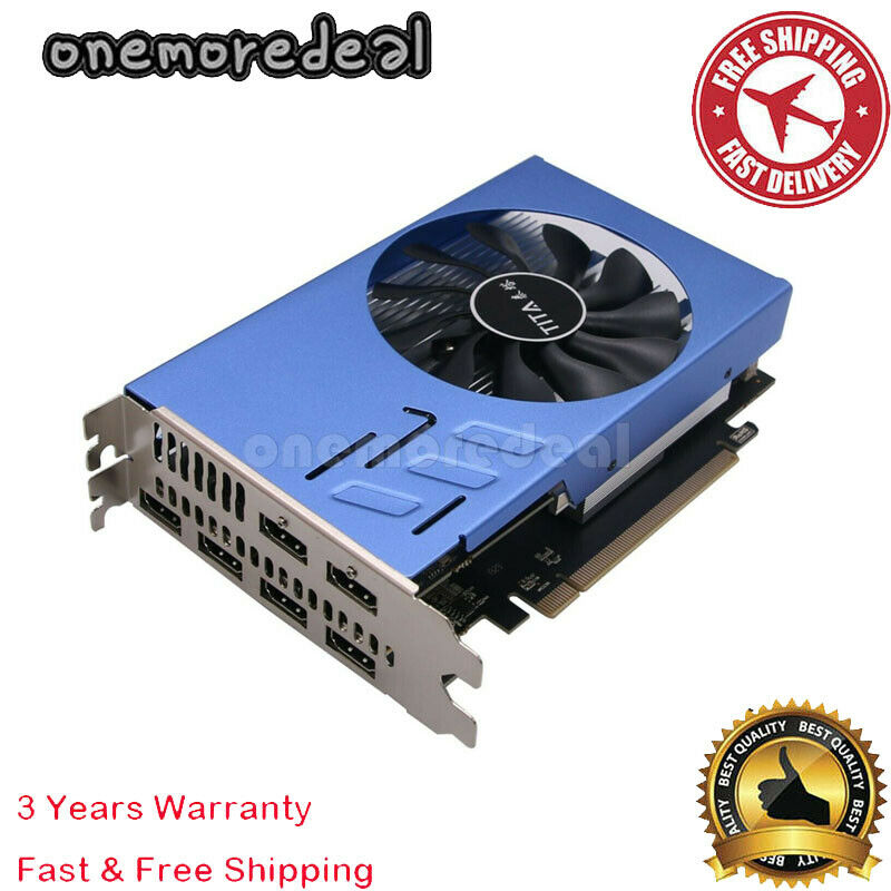 6 Monitor Video Card HDMI Video Graphics Card 2GB DDR5 up to 6 Monitors AMD #OM5