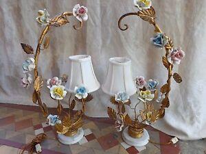 Ornate Vintage French Boudoir Porcelain Floral Roses Gold
