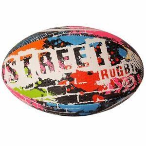 Optimum Street Rugby Ball Straßen Trainingsball Gr. 5 410g Gummi Naturkautschuk