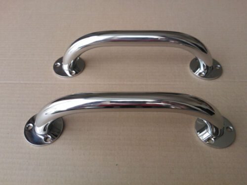 A pair of stainless steel 220mm marine grade 316 boat grab rails//handles 22mm