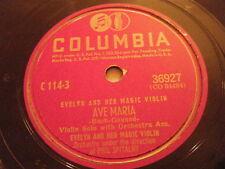 EVELYN & HER MAGIC VIOLIN 78 Ave Maria / Home Sweet Home 1945 Columbia 36927