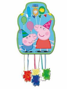 Peppa-Pig-amp-George-Pull-String-Pinata-for-Birthday-Party-Game-Fun-33-x-46cm