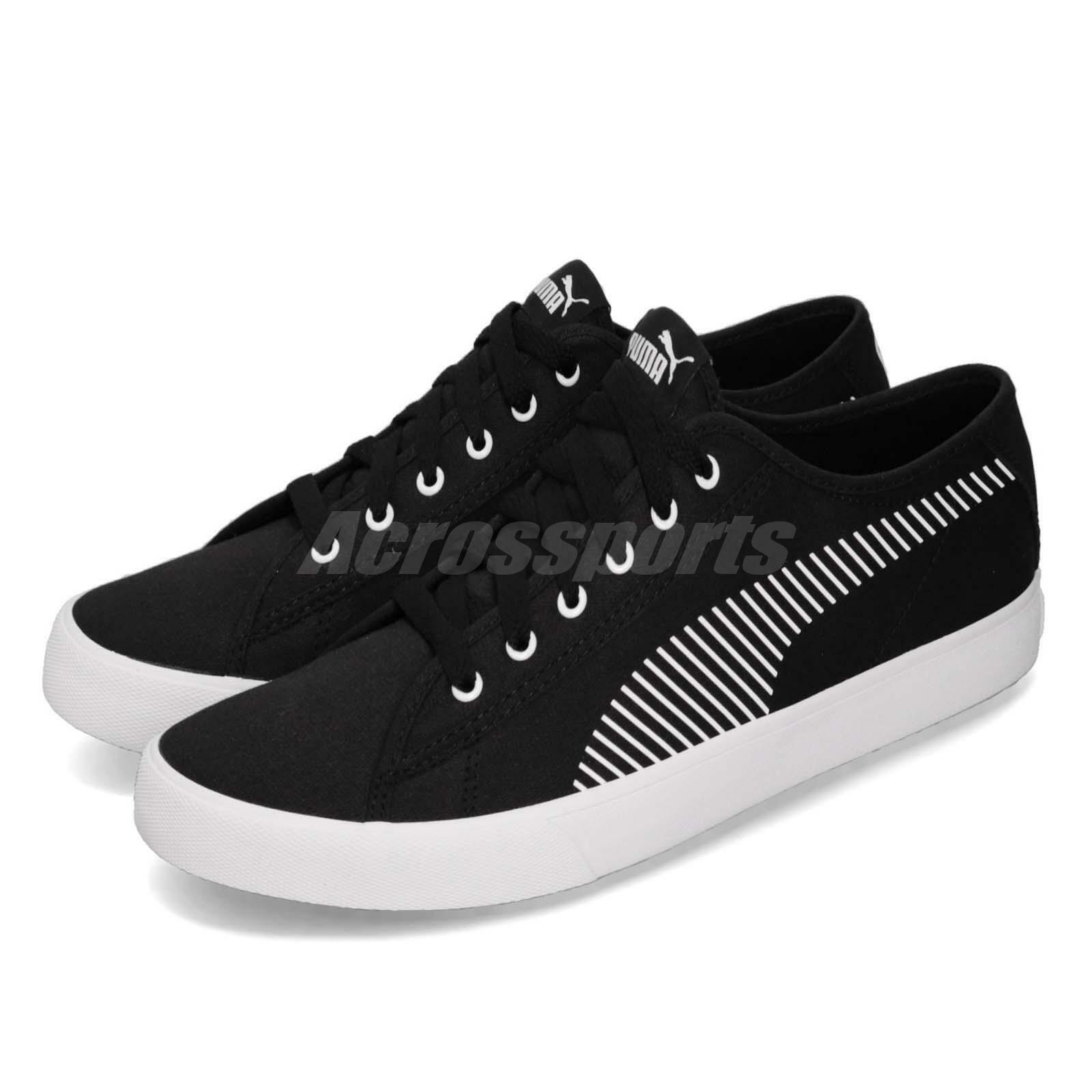 Puma Bari negro blanco Gum Men mujer Unisex Casual zapatos zapatillas 369116-01