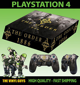 Ps4 Skin The Order 1886 Black Water Galahad Sticker New Pad Decal Vinyl Laid Video Games & Consoles Video Game Accessories