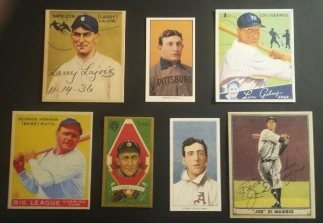 T206 Honus Wagner 1933 Babe Ruth T205 Ty Cobb T206 Ed Plank 1941 Ted Williams 😃