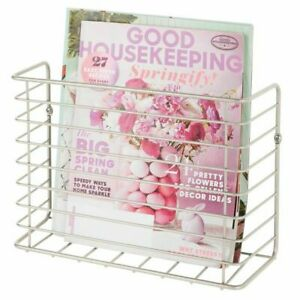 mDesign-Metal-Wall-Mount-Magazine-Holder-Storage-Organizer-Rack