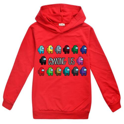 Details about  /Among Us Kids Boys Hoodie Jumper Sweatshirt Gamer Hooded Tops Pullover Blouses