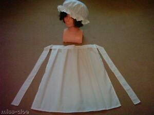 LADIES-VICTORIAN-EDWARDIAN-TUDOR-MAID-HALF-APRON-AND-MOP-CAP-FANCY-DRESS-COSTUME
