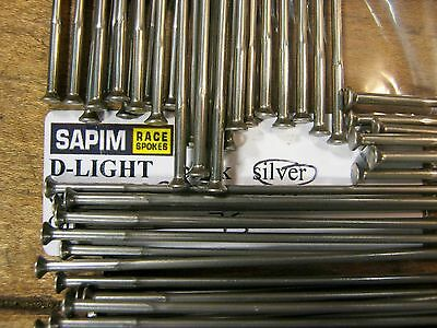 SAPIM LASER Spokes Silver 2.0//1.5mm Dbl Butt STRAIGHT-PULL*Any Qty.**Any Length*