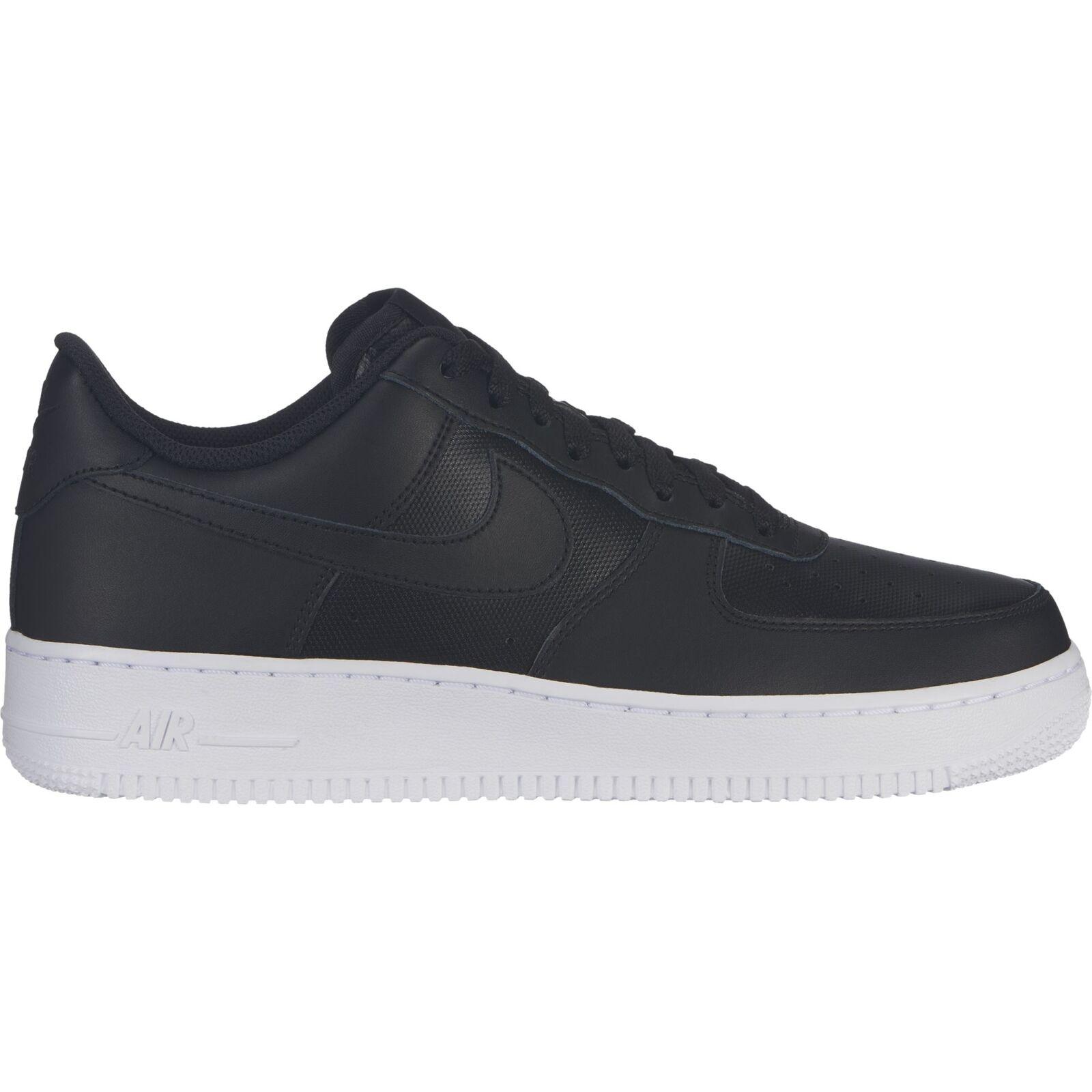Nike Men's Air Force 1 '07 Sneakers, Black Black White