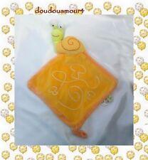 Doudou Plat Escargot Jaune Orange Vert Champignon Liboo