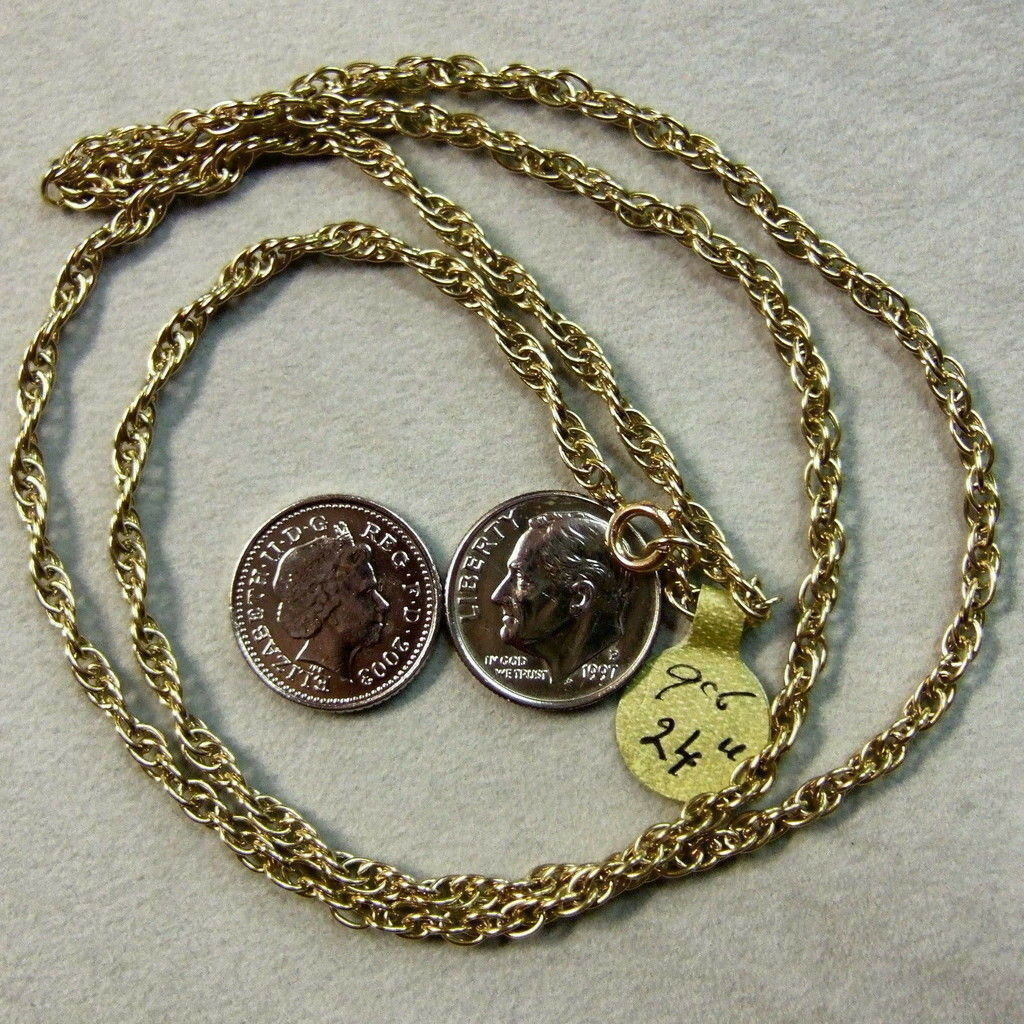 9 ct gold Second hand solid P.O.W  chain